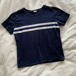 J.GALT navy and white stripe t-shirt